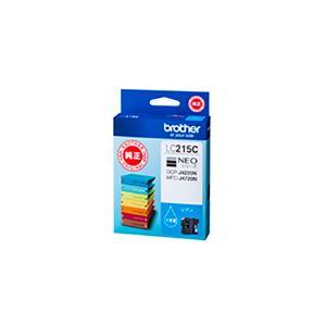 (業務用5セット) 【純正品】 BROTHER ブラザー インクカートリッジ/トナーカートリッジ 【LC215C シアン】 大容量