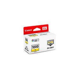 (業務用3セット) 【純正品】 Canon キャノン インクカートリッジ/トナーカートリッジ 【0549C004 PFI-1000Y イエロー】