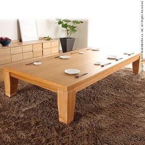 モダンリビングこたつ 【ディレット】 210×100cm こたつ テーブル 長方形 日本製 国産継ぎ脚ローテーブル ナチュラル