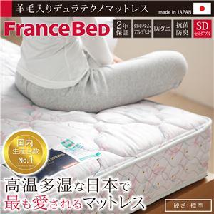 デュラテクノスプリングマットレス セミダブル マットレスのみ フランスベッド セミダブル マットレス