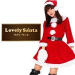 サンタ コスプレ 赤 レッド レディース <帽子&ベルト&手袋セット> 【Peach×Peach ラブリーサンタクロース レッド(赤) ワンピース 】 クリスマスコスプレ サンタクロース衣装