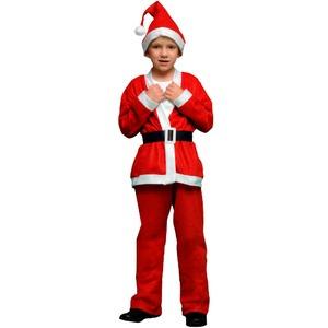 【クリスマス 衣装 コスチューム 子供用】P×P ボーイズサンタクロース サンタコスプレ子供用 ジャケット&パンツ (5 – 7才向け)