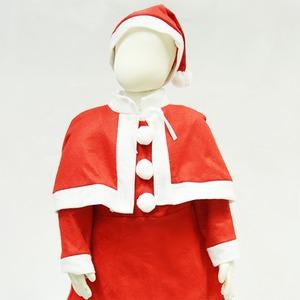 【クリスマス 衣装 コスチューム 子供用】P×P ガールズサンタクロース サンタコスプレ子供用 ワンピース&肩がけ (3 – 5才向け)