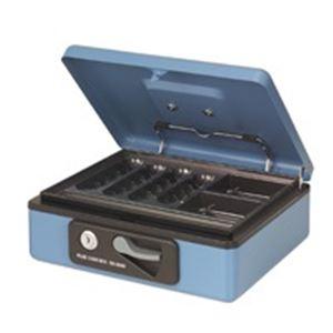 (業務用10セット) プラス 小型手提げ金庫 シリンダー錠付 CB-050G ブルー 【×10セット】