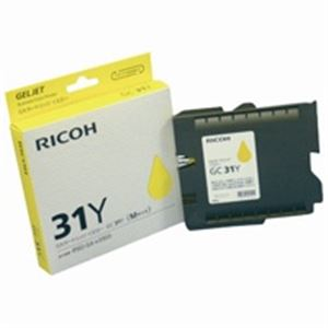 (業務用5セット) RICOH(リコー) ジェルジェットカートリッジ GC31Yイエロー 【×5セット】