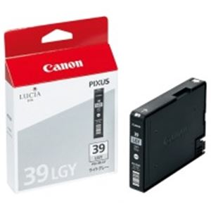 (業務用10セット) Canon(キャノン) IJインクカートリッジ PGI-39LGYライトグレー ×10セット