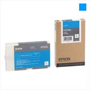 (業務用3セット) EPSON(エプソン) インクカートリッジL シアンL ICC54L 【×3セット】