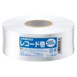 (業務用100セット) ジョインテックス ひも レコード巻50mm×500m白 B173J