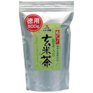 (業務用30セット) 大井川茶園 徳用抹茶入り玄米茶500g袋 ×30セット