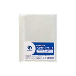 (業務用50セット) ジョインテックス クリアポケット中紙無 2穴100枚 D077J ×50セット