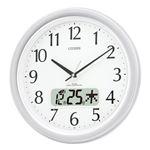 リズム時計 シチズン電波掛時計 4FYA02-019