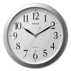 リズム時計 リズム電波掛時計 4MYA26SR19