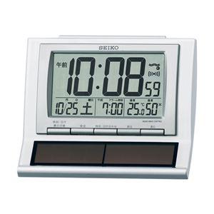電波デジタルソーラー目覚時計 086-06B
