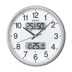 SEIKOカレンダー温湿度電波掛時計 087-04B