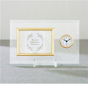 時計付ガラスフォトフレーム 364-06B