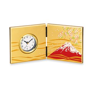 大和屏風時計富士に桜 100-03B