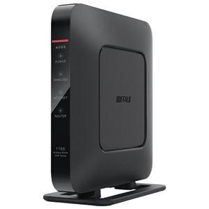 (まとめ)BUFFALO 無線LAN エアステーションWSR1166DHP3BK【×5セット】
