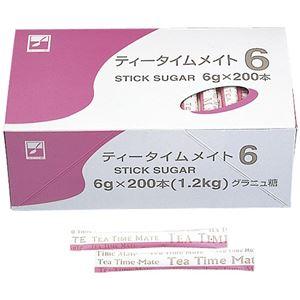 (まとめ)三井製糖 シュガーティータイム 6g 200本 8112【×30セット】