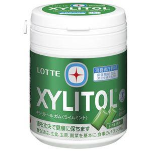 (まとめ)ロッテ キシリトールガムライムミント ボトル 143g【×30セット】