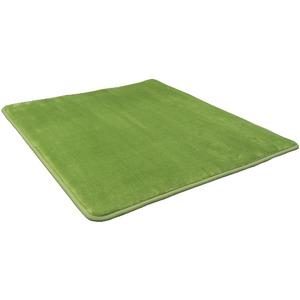 低反発 ラグ モスグリーン 緑 グリーン 極厚 直径80  円形 【やさしいフランネル防音低反発ラグ】 遮音 防音マット ノンホル ラグマット