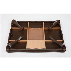 カジュアル折りたたみこたつテーブル 本体 【正方形/幅75cm】 ブラウン 『LUCIFER』 猫足 姫系
