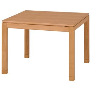 リビングこたつテーブル/センターテーブル 本体 【幅90cm ハイタイプ/ナチュラル】 正方形 継ぎ足 『シェルタ』