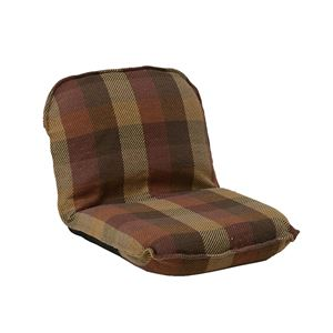 インド綿ウール混座椅子 メルモSS W47cm×D60cm(80)×H39cm(11)×SH11cm オレンジ