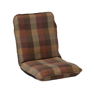 インド綿ウール混座椅子 メルモM W47cm×D69cm(104)×H56cm(12)×SH12cm オレンジ