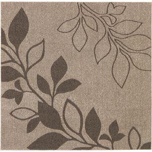 花粉ウイルス対策 ラグマット/絨毯 【130cm×185cm ブラウン】 長方形 日本製 折りたたみ 防ダニ 抗菌 防臭 通年 『アルブル』