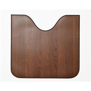 木目調消臭トイレマット ニオクリン 60cm×60cm ダークブラウン