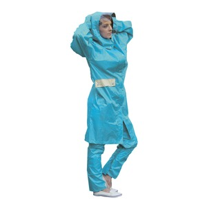多機能 サイクルレインコート/雨合羽 【Lサイズ ブルー】 防水機能 透湿機能 収納ポーチ 反射板付き ポリエステル 『UVION』