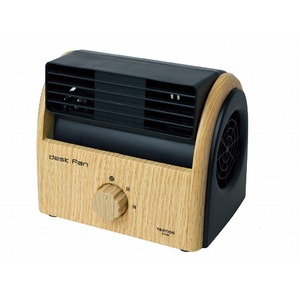 TEKNOS 扇風機 小型 ファン 卓上扇風機 デスクファン 木目調 ナチュラルブラウン TI-3100