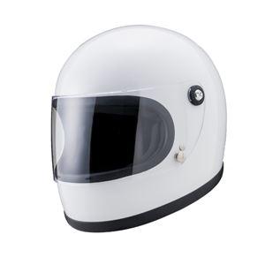 ヤマシロ(山城) オートパーツYKH-002ニューレトロフルフェイスヘルメットWH(ホワイト) Lサイズ