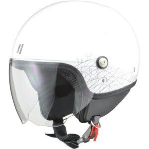 リード工業 (LEAD) ジェットヘルメット PALIO ホワイト フリー