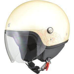 リード工業 (LEAD) ジェットヘルメット PALIO アイボリー フリー