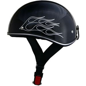 リード工業 (LEAD) ハーフヘルメット D356 ブラック フレア フリー