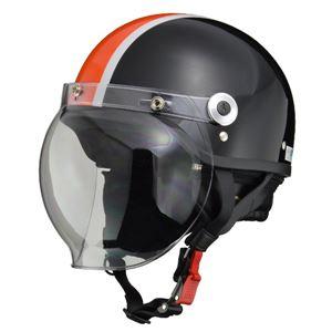 リード工業 (LEAD) バブルシールド付ハーフヘルメット CR760 BK/OR フリー