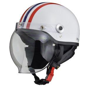 リード工業 (LEAD) バブルシールド付ハーフヘルメット CR760 W/RE.BL フリー