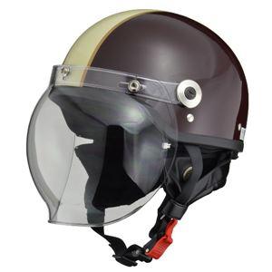 リード工業 (LEAD) バブルシールド付ハーフヘルメット CR760 BR/IV フリー