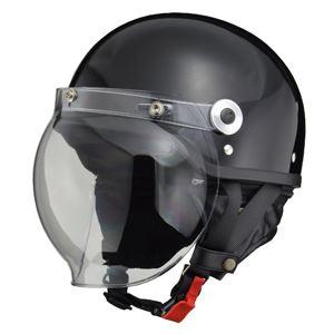 リード工業 (LEAD) バブルシールド付ハーフヘルメット CR760 BK フリー