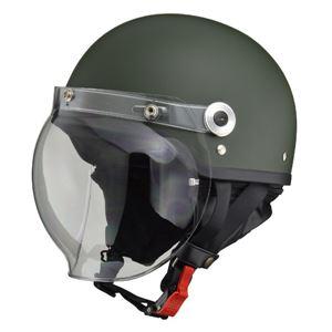 リード工業 (LEAD) バブルシールド付ハーフヘルメット CR760 マットグリーン フリー
