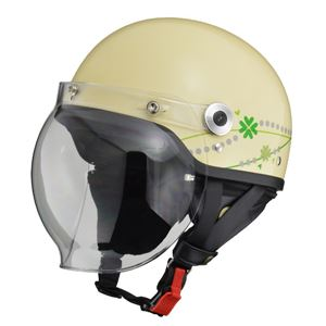 リード工業 (LEAD) バブルシールド付ハーフヘルメット CR760 クラブアイボリー フリー