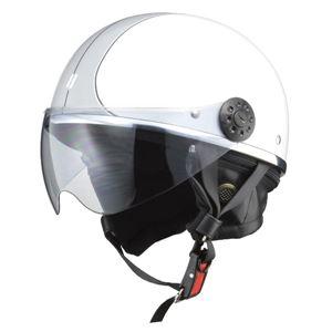 リード工業 (LEAD) ハーフシールド付ハーフヘルメット O-ONE WH/SV フリー
