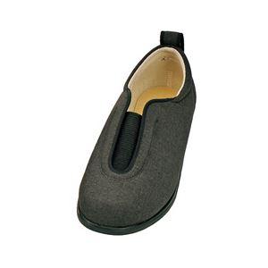 介護靴 施設・院内用 センターゴム2 1023 片足 徳武産業 あゆみシリーズ /LL (24.0〜24.5cm) 黒 左足