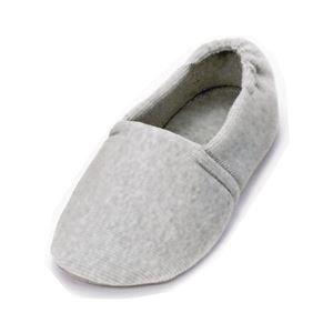 介護靴 室内用 エスパドワイド 2704 両足 徳武産業 あゆみシリーズ /LL(25.0〜26.0cm) グレー