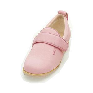 介護靴 施設・院内用 ダブルマジック2 5E(ワイドサイズ) 7005 両足 徳武産業 あゆみシリーズ /3L (25.0〜25.5cm) ピンク