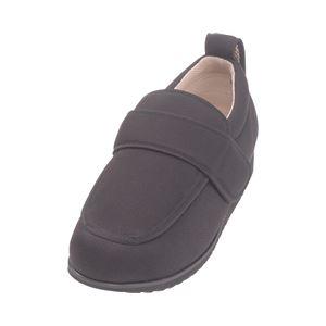 介護靴 外出用 NEWケアフル 5E(ワイドサイズ) 7007 片足 徳武産業 あゆみシリーズ /4L (26.0〜26.5cm) 黒 左足