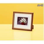 『花』風水額/シルク版画 【吉岡浩太郎 白い花】 スタンド付き 壁掛け/置き型兼用 日本製