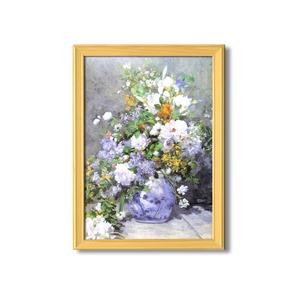 名画額縁/桧フレームセット 【A3】 ルノワール 「花瓶の花」 343×466×230mm 壁掛けひも付き