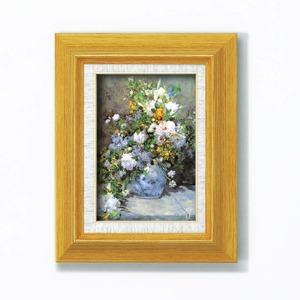 名画額縁/フレームセット 【サム 壁掛け用】 ルノワール 「花瓶の花」 273×343×48mm 立体加工付き